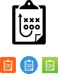 Strategy On Clipboard Icon - Illustration