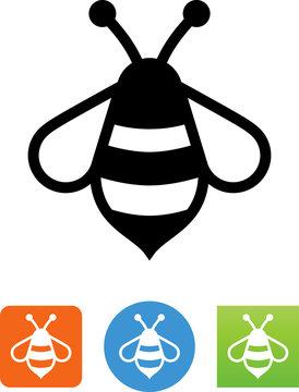 Stylized Bee Icon - Illustration