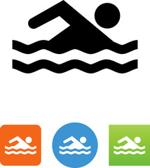 Swimmer Icon - Illustration
