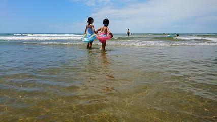 海水浴の風景 千里浜