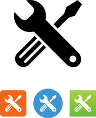 Tools Crossed Icon - Illustration