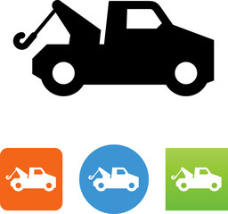 Tow Truck Icon - Illustration