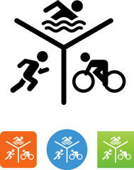 Triathalon Icon - Illustration