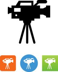 TV Camera Icon - Illustration