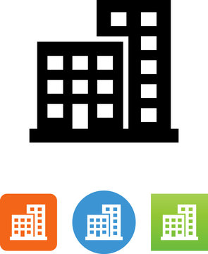 Two Buildings Icon - Illustration