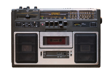 cassette recorder / audio player isolated