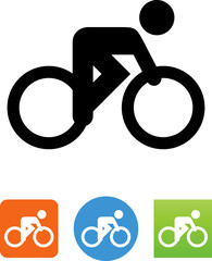 Vector Bike Racer Icon - Illustration