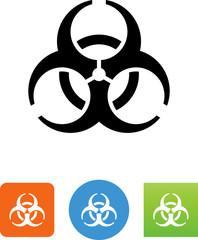 Vector Biohazard Icon - Illustration
