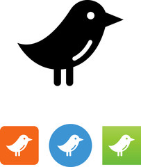 Vector Bird Icon - Illustration