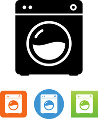 Vector Clothes Washing Machine Icon