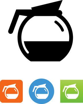 Vector Coffee Pot Icon - Illustration