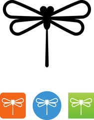 Vector Dragonfly Icon - Illustration