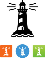Vector Lighthouse Icon - Illustration