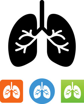 Vector Lungs Icon - Illustration