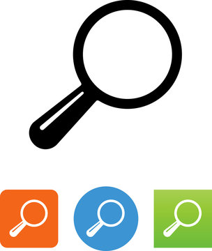 Vector Magnifying Glass Icon - Illustration