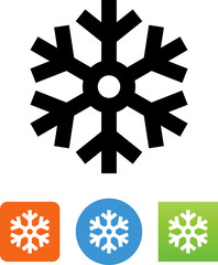 Vector Snowflake Icon - Illustration