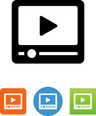 Video Player Icon - Illustration