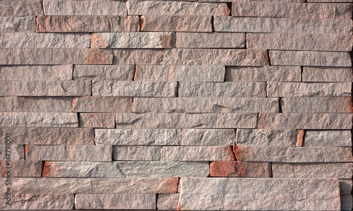 Yellow Natural Stone Facade Wall Tiles Texture Close Up Stock