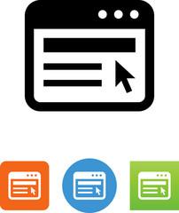 Web Page Icon - Illustration