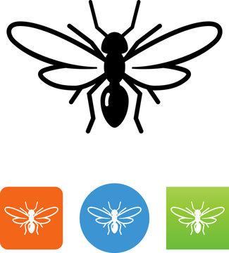 Winged Ant Icon - Illustration