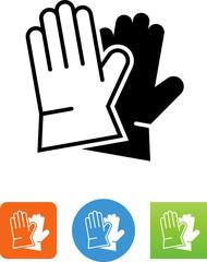 Work Gloves Icon - Illustration