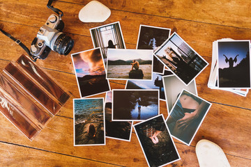 Printed photos and camera