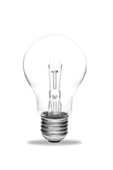 Light bulb, isolated, Realistic photo image on white background