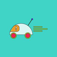 flat vector icon design collection remote control car
