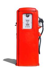 Vintage (retro) red gasoline pump