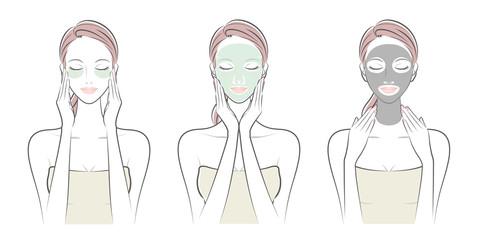 女性の表情 / スキンケ