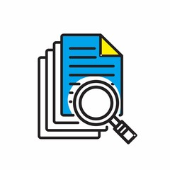 business icon office vector