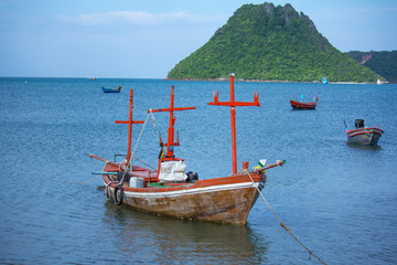 fishing boat in the sea Thailand