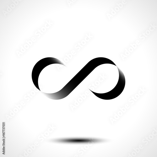 Vector Illustration Of Infinity Symbol Or Logo Design Isolated On