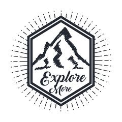 explore more hand drawn lettering poster with mountains inspirational poster vector illustration
