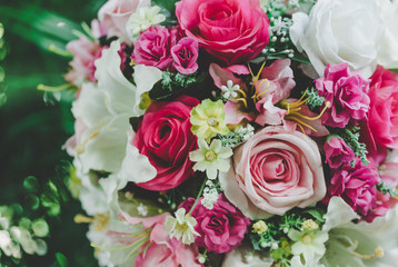 Colorful bunch of artificial flower