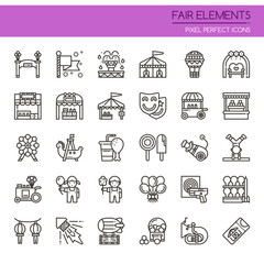Fair Elements , Thin Line and Pixel Perfect Icons.