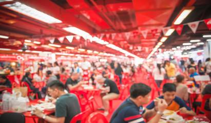 Blur photo, Thai food festival at Queen Sirikit National Convantion Bangkok Thailand