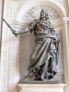 Statue of King Philip IV of Spain by Bernini in Santa Maria Maggiore basilica, Rome