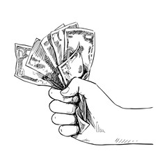the transfer of money, vector
