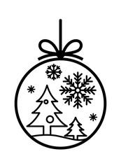 graphic christmas ball, vector