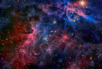 Image of the Carina Nebula in infrared light. Elements of this image are furnished by NASA