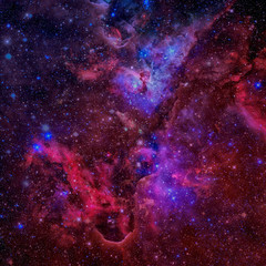 Beautiful nebula, stars and galaxies. Elements of this image are furnished by NASA