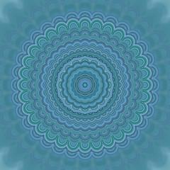 Fotobehang Fractal waves Abstract mandala ornament background - round symmetrical vector pattern design