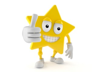 Star character with thumbs up gesture