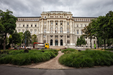 Austria, Vienna, Palace of Justice (Justizpalast), 19th century Neo-Renaissance architecture.