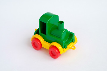 toy train isolated on the white background