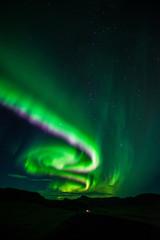 Atemberaubende Nordlichter in Island