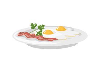 Isolated breakfast eggs.
