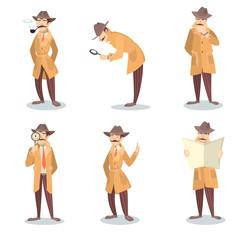 Isolated detective set.