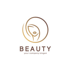 Vector logo design for beauty salon, hair salon, cosmetic